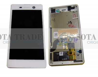 Display LCD & Touchscreen Sony Xperia M5 Dual E5633/ E5653 (White), 191HLY0004B-WCS original