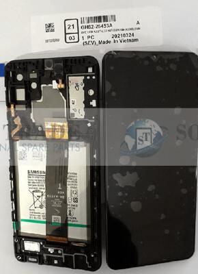 LCD Display & Touchscreen Samsung Galaxy SM-A326B (A32 5G 2021) BLACK + BATTERY, GH82-25453A original