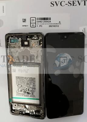 LCD Display & Touchscreen Samsung Galaxy  SM-A725 (A72 4G 2021) BLACK + BATTERY, GH82-25542A original