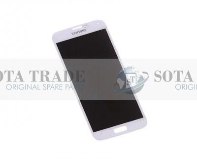 LCD Display & Touchscreen Samsung SM-G900F Galaxy S5 (White), GH97-15959A original