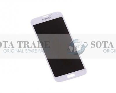 LCD Display & Touchscreen Samsung SM-G900F Galaxy S5 (White), GH97-15959A original