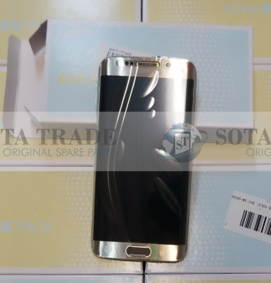 LCD Display & Touchscreen with frame Samsung SM-G925F Galaxy S6 Edge (Gold), GH97-17162C original