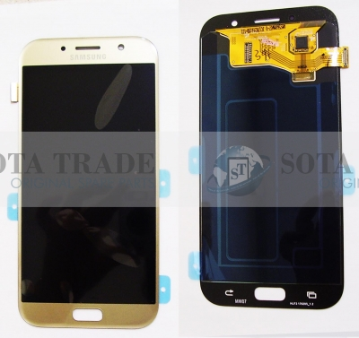 LCD Display & Touchscreen Samsung Galaxy A7 A720 (2017) Gold, GH97-19723B original