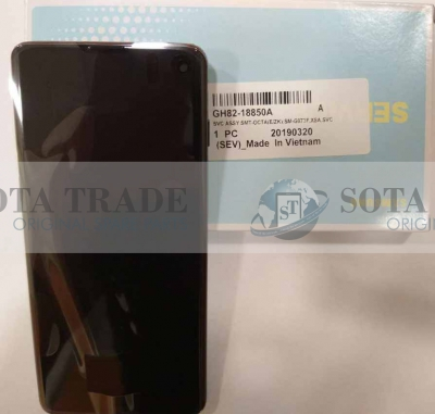LCD Display & Touchscreen Samsung Galaxy S10 G973 (SM-G973F) (2019) Prism Black, GH82-18850A original